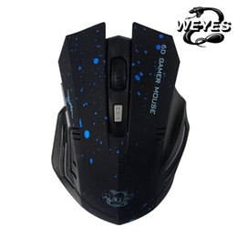 Chinese  New 2018 HOT Sale 6Keys USB Wireless Gaming Mouse Optical Computer Game Mouse 2.4G WIFI Wireless For Gamer Large size manufacturers