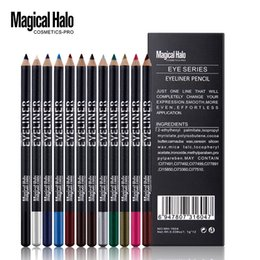 Matte Eyeliner Pens Canada - Magical Halo Eyes Make Up Tools 12Pcs Colors Eye Makeup Eyeliner Eye Shadow Pen Long-lasting Waterproof Eyebrow Beauty Liner Set MH1604