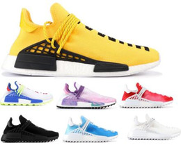 Buy Air Human Race Running Shoes Pharrell Williams PW Hu Creme Core Orange Nerd Passion Holi Nobel Youth Trainers Men Women Sports Sneaker 100% original cheap online 1bWoIafhZk