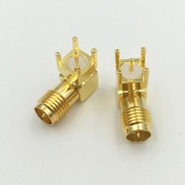 $enCountryForm.capitalKeyWord NZ - Gold RP SMA Male Adapter PCB Mount RP-SMA Male Pin Jack Right Angle RF Coaxial RP-SMA-KWE Connector