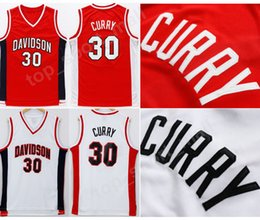 5d3377b7f335 Davidson Wildcats College Jerseys Cheap 30 Stephen Curry Jersey Men  University Team Red Road White Sport Uniform Wholesales Lowest Price