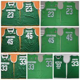 Michigan State Spartans College Basketball Jersey Cheap 33 Magic Johnson 23  Draymond Green 45 Denzel Valentine Shirts Stitched Mens Jersey 5015ff272