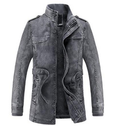 Wool Leather Motorcycle Jacket Canada - 2018 Fashion Jacket men Slim Warm mens winter washed Leather Motorcycle Biker Jackets Standing Collar Coat jaqueta masculina Plus size XXXL