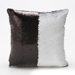 Discount living clean - Creative Pillow Throw For Clean In Living Room Magical Home Charming Mermaid Sequins Color Change Pillow Case