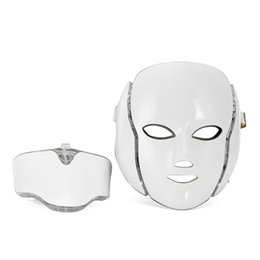 China 7 Colors PDT LED Mask Skin Whitening Skin Rejuvenation Photon LED Light Therapy Face Neck Home Use Skin Care Facial Machine suppliers