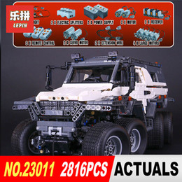 China New LEPIN 23011B 3021Pcs Technology Series Off-road vehicle Model Building Kits Block Educational Bricks Compatible Toys Gift 5360 cheap block toys vehicles suppliers