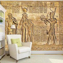 Fiberglass wallpapers online shopping - Arkadi d retro large mural Egypt style old man wallpaper KTV bar pyramid theme wallpaper