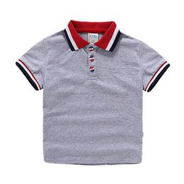 children polo Australia - Tees High Quality New Hot Baby Boys Polo Shirt Children 'S Clothing Summer Clothes Baby Kids Child Brand 100 %Cotton Short Polo Shirt