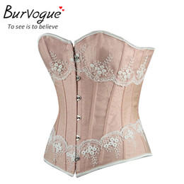 427c6b336e2 Burvogue Waist Control Corsets And Bustiers Women Sexy Overbust Corset Top  Gothic Corselet Lace Up Body Shaper For Women