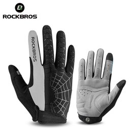 Wholesale ROCKBROS Windproof Cycling Gloves Touch Screen Riding MTB Bike Bicycle Glove Thermal Warm Motorcycle Winter Autumn Men Clothing