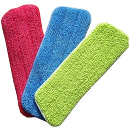 Second hand wholeSale online shopping - Superfine Fiber Cloth Flat Mop Cover Free Hand Washing Mops Replacement Material Practical Thickening Household Cleaning Tools xp X