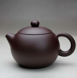 zisha teapot UK - Chinese Yixing xishi handmade tea pot zisha purple clay teapot zi ni 220cc