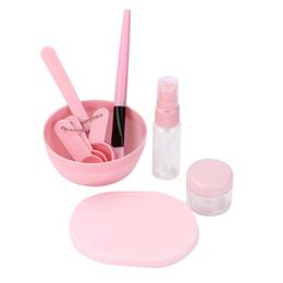 China 45PCS lot maquiagem Makeup Beauty DIY Facial Face Mask Bowl Brush Spoon Stick Tool Foundation Powder Brush Facial Mask Brushes cheap makeup bowl suppliers