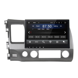 Korean Gps Australia - Car DVD player for Honda Civic 2006-2011 2GB RAM 10.1inch Octa-core Andriod 6.0 with GPS,Steering Wheel Control,Bluetooth,Radio