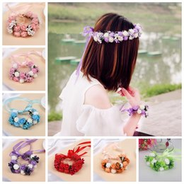 Wholesale wrist corsage supplies australia new featured wholesale wedding supplies bridal wrist band corsage romantic head band headwear flower bridesmaid artifical flowers garland wreath 7 colors aaa876 junglespirit Image collections