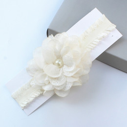 Hair Flowers For Wedding Party Girls' Head Pieces Flower Girl chic Rhinestone Pearl headband Studio Kids' Accessories on Sale