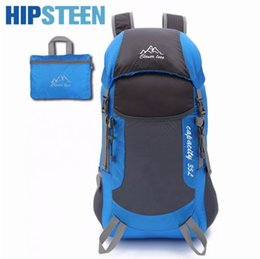 f54efef0a2a0 HIPSTEEN Men Women Travel Bags Large Capacity Lightweight Foldable Daypack  High-End Folding Backpack Travel backpack Bag - Blue