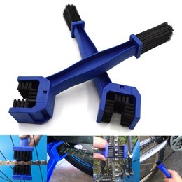 Motorcycle Chain Brush NZ - For Bike Chain Bicycle Cleaning Brush Chain Brake Cleaner Dust Dirt RemoverFor Cycle Motorcycle Chain Cleaner Brush Cleaning Tool Bike Maint