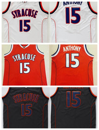 Men s Syracuse College NCAA  15 Carmelo Anthony Jersey Orange Black White Carmelo  Anthony Stitched Basketball Jerseys Free Shipping 0a61571f2