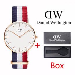 98ba855c881 Top de luxo clássico da marca de moda 40mm dos homens relógio pulseira de  nylon rosa de ouro 36mm senhoras relógio com caixa de marca de luxo relógio  de ...