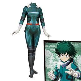 Discount zentai hero cosplay - Ainiel My Hero Midoriya Izuko Deku Cosplay Costumes 3D Printed Girls Zentai Suit Halloween Costumes Fancy Dress Kids Adu