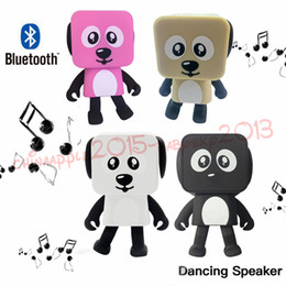 Bluetooth Toys Australia - Dancing Dog Bluetooth Speakers Portable Mini Electronic Robot Stereo Speakers Electronic Walking Toys With Music Wireless Speaker Toy