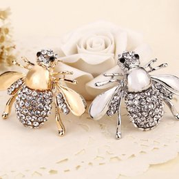 best brooches NZ - 2018 New High Quailty Fashion Rhinestone Animal Brooch Jewelry Lovely Alloy Best Bee Brooches Pins Accessories For Women