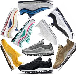 da0b5fa64595 2019 OG 97 x UNDEFEATED UNDFTD Running shoes 97s SE Triple white black  South Beach Grape Men women sports good Sneaker size 36-46