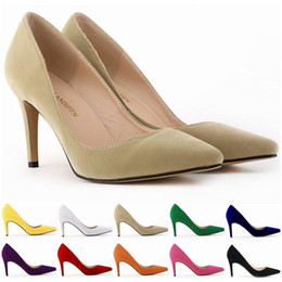$enCountryForm.capitalKeyWord Canada - Top Quality Women Shoes Red Bottoms High Heels Sexy Pointed Toe Red Sole Women Wedding Dress Shoes