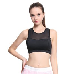 53084d5fa 2018 Sexy Women Mesh Splice Cross Back Solid Quick Dry Breathable Polyester  Yoga Running Gym Workout Padded Underwear Sports Bra