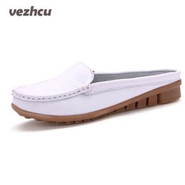 $enCountryForm.capitalKeyWord Canada - VZEHCU Summer Sandals New Soft Genuine Leather Flats Casual Slip On Handmade Women Loafes Sandals Shoes Plus Size 35-42 Pcd57
