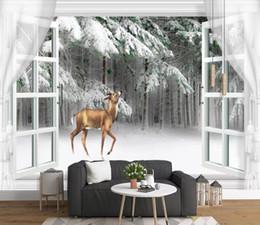 $enCountryForm.capitalKeyWord Australia - Modern Snowy elk Wallpaper For Walls Decor 3D Wall paper Rolls For Bedroom Living room Sofa TV Background