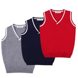 20097a43423e58 New Boys Pullover Vest Brand School Children V-Neck Woolen Vest Sweater for  Girls Kids Fall Winter Knitted Sweater