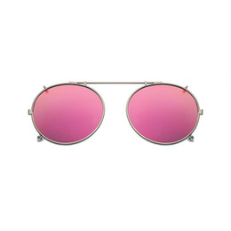 99523c6ef0d Polarized Round Clip On Sunglasses Unisex Pink Coating Mirror Sun Glasses  Driving Metal Oval Shade Clip On Glasses uv400