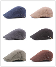d00a7c77 DHL 2018 winter Men's Cotton Flat Snap Hats old men's beret hat denim jeans  Newsboy caps Ivy Gatsby Hunting Cabbie Driving Cap