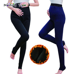 caf6255dabb35c Winter Warm Maternity Leggings for Pregnant Women High-waisted Stretch Pregnancy  Legging Ropa Premama Clothes 7 Colors
