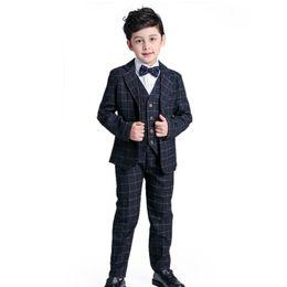 38c11ad767c8f Gentleman Blazers Blue UK - Children suit Formal Gentleman New 2017 Spring Baby  Boy Plaid Suits