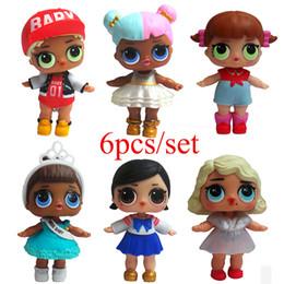Discount boneca toys - 6-8pcs Cute LOL Doll Boneca Baby Glitter Model Children Girl Birthday Gift Dress Egg Anime Action Figure Toys Educationa