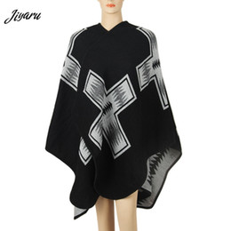 Shirt Poncho Australia - Ladies Fashion Shirts Female Casual Shawl Women Loose Poncho Women Cloak Ladies Casual Loose Poncho Female Clothing Black Red