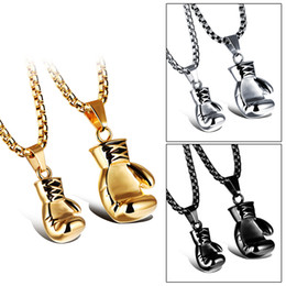 Gold necklace boxes pearls online shopping - 3 Colors Box Round Pendant Necklace Designer Jewelry Titanium Hip Hop Jewelry Iced Out Chains Choker Gold Chains for Men