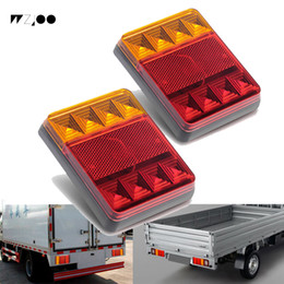 Trailer Tail Lights Australia - Waterproof 8 LED Car Tail Light Rear Lamps Pair Boat Trailer 12V Rear Parts for Trailer Truck Car Lighting Waterproof IP65