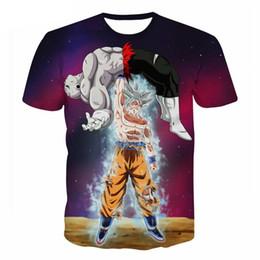 f80ebc7ced 5XL Anime Dragon Ball Z DBZ Goku Vegeta Imprimir 3D Camiseta Hombres  Mujeres Casual Camiseta Camisetas Camiseta 2018 Tops de Verano Envío de la  gota