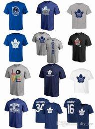 2018 NHL Toronto Maple Leafs camisetas AD Auston Matthews Mitchell Marner Nazem Kadri Patrick Marleau qualquer número personalizado Número T-shirt venda por atacado