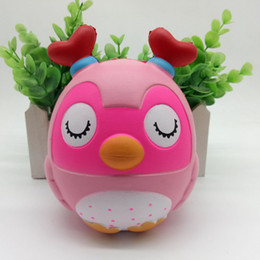 Discount cute chicken toys - Kawaii Cute Double-Angled Chicken Squishy Simulation Slow Rising Soft Squeeze Fun Decompression Toy Reliever Kids Gift O