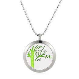 stainless diffuser necklace online shopping stainless steel Compact Oil Diffuser newest life tree 316l stainless steel 25 30mm essential oil perfume diffuser necklace locket pendant with free 10 pads