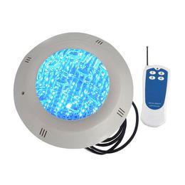 LED бассейн лампа AC 12 В DC12V поверхностного монтажа подводные огни водонепроницаемый IP68 с пультом дистанционного управления 18 Вт 24 Вт 35 Вт RGB огни цвет белый