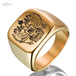 Russian aRm online shopping - eejart Exclusive eagle ring with a coat of arms of the Russian men s ring adorned with cubic zirconia