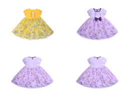 Chinese  kids designer girls dresses Cartoon Printed Cotton princess dress short-sleeved Dancewear Cosplay costumes Clothing Performance Clothes manufacturers