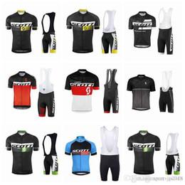 Scott Bike Bibs Canada - 2018 SCOTT Men Cycling Jersey Set Summer Mtb Bike Clothing Bicycle Short Sleeves shirts 3D Bib Shorts Suit Maillot Ciclismo Sportswear F1107