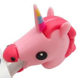 Usb Dolls UK - Retail Unicorn Bite Cable Protector for iphone 7 6 8 X USB Data Line Protection Doll Animal Bite Accessory cable organizer